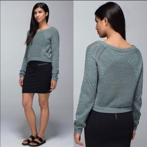 Lululemon Be Present pullover crop knit sweater